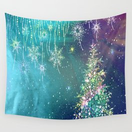 Winter Design QR Wall Tapestry