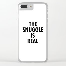 The Snuggle Is Real - Futura Clear iPhone Case