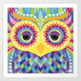 Shanti Sparrow: Rave the Owl Art Print