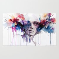 high Area & Throw Rugs featuring l'assenza by agnes-cecile