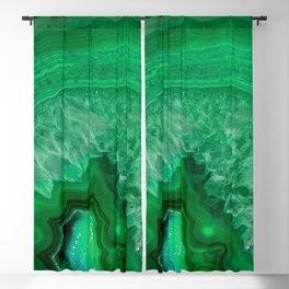 Green Emerald Agate Blackout Curtain