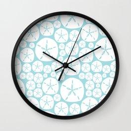 teal sanddollars  Wall Clock
