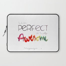 I am not perfect Laptop Sleeve
