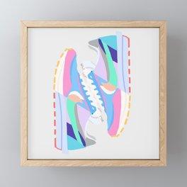 POP SNEAKERS Framed Mini Art Print