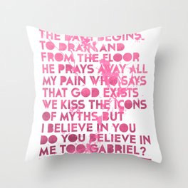 Passion Pit Gossamer Poster Throw Pillow