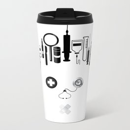 Doctor  | The world inside your head  Metal Travel Mug