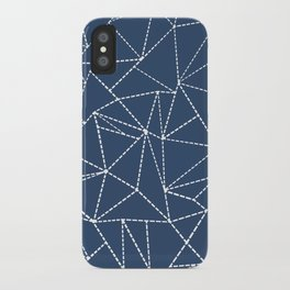 Ab Dotted Lines Navy iPhone Case