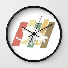 Vintage Stegosaurus Retro Dinosaur Gift Wall Clock