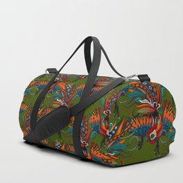 rooster ink green Duffle Bag