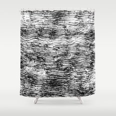 Black Pattern#4 Shower Curtain