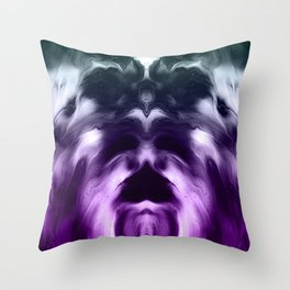 abstract psychedelic paint flow ghost face c5 Throw Pillow