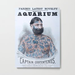 Captain Costentenus, tattoed from head to foot Poster Metal Print