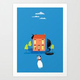 Big Cat Hunting Art Print
