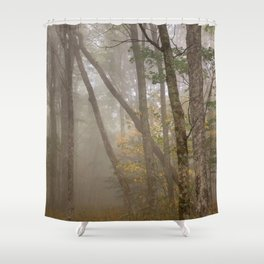 Misty Spruce Knob Forest Shower Curtain