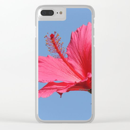 The Neighbor's Pink Hibiscus Clear iPhone Case