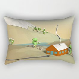 Landscape Low Poly B1 Rectangular Pillow