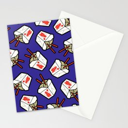 Take-Out Noodles Box Pattern Stationery Cards