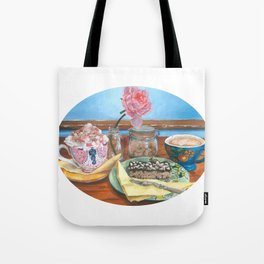 ''Catching Up'' Tote Bag