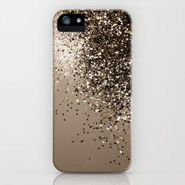 Sparkling Sepia Lady Glitter #1 #shiny #decor #art #society6 iPhone Case