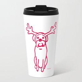 Scamp The Reindeer Dog Travel Mug