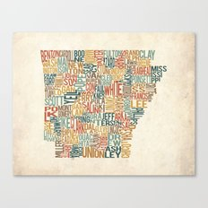 Arkansas by County Canvas Print