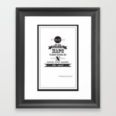 indiana jones Framed Art Print