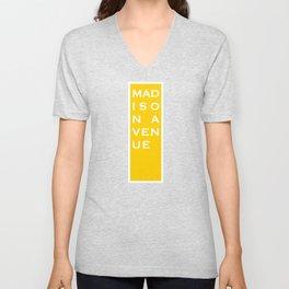 Madison Avenue - NYC - Yellow Unisex V-Neck