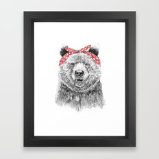 Break the rules (without text) Framed Art Print