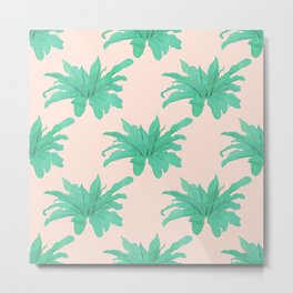 Trendy Tropical Green Plants Foliage Modern Design Metal Print