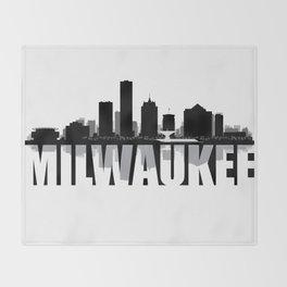 Milwaukee Silhouette Skyline Throw Blanket