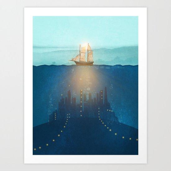 The Underwater City Art Print