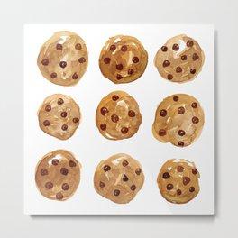 Watercolor Cookies Metal Print