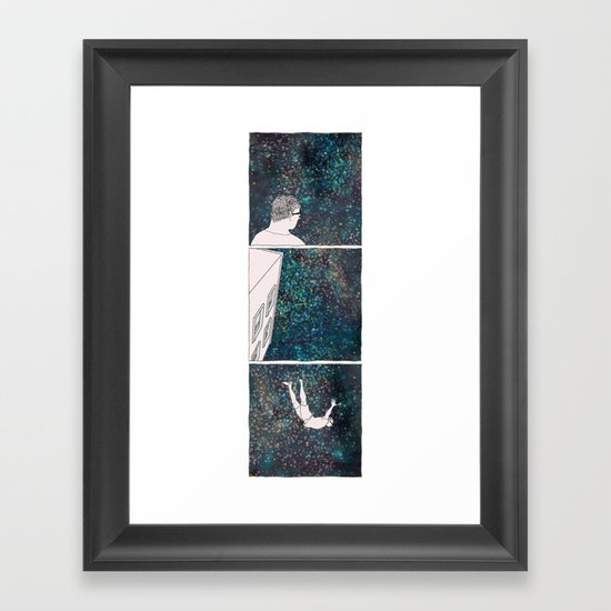 SHORTEN THE DISTANCE BETWEEN US  Framed Art Print