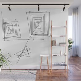 Mother - Modern Minimalism Illustration Abstract One Line Drawing Wall Mural