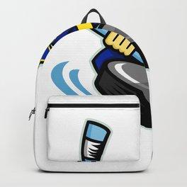 Swashbuckler Ice Hockey Sports Mascot Backpack