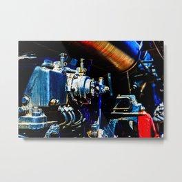 Valves And Tubes Of A Vintage Steam Engine Locomotive Metal Print