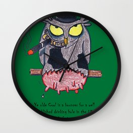 Ye Olde Cowl Wall Clock