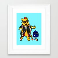 pooh Framed Art Prints featuring Doctor Pooh by Murphis the Scurpix