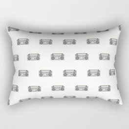 Funky Boombox Days Rectangular Pillow