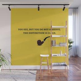 Sherlock Holmes Quote III Wall Mural