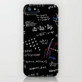 math blackboard iPhone Case