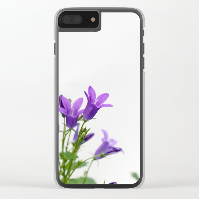 PURPLE FLOWERS - Bellflowers #1 #decor #art #society6 Clear iPhone Case