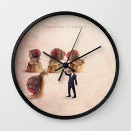 The snail tamer Wall Clock