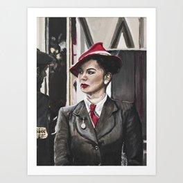 Scarlet Lady Art Print