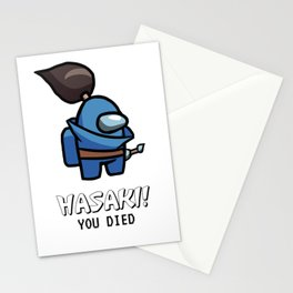 HASAKI YASUO LOL AMONG US YOU DIED Stationery Cards