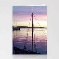 oslo Stationery Cards featuring Sunset Oslo by Samantha Snyder