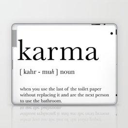 Karma definition Laptop & iPad Skin