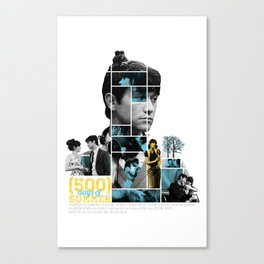 500 Days of Summer - Mosaic Poster Canvas Print