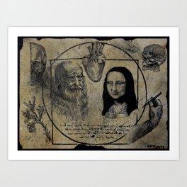 DA VINCI FLASH Art Print