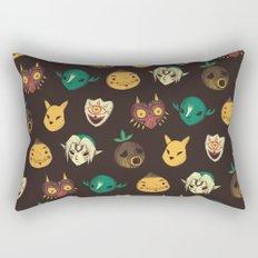 pattern of masks.  Rectangular Pillow